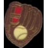 A GENERIC BASEBALL PIN BASEBALL BALL AND GLOVE PIN