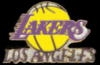 LOS ANGELES LAKERS PIN LOGO WORDMARK PIN