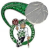 BOSTON CELTICS PIN GLITTER BALL CELTICS PIN