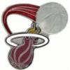 MIAMI HEAT PIN GLITTER BALL HEAT PIN