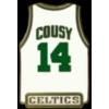 BOSTON CELTICS BOB COUSY JERSEY PIN