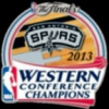 SAN ANTONIO SPURS 2013 WESTERN CONFERENCE CHAMPIONS PIN