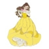 DISNEY PIN PRINCESS BELLE BEAUTY AND BEAST GLITTER GOWN PIN