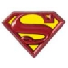 SUPERMAN LOGO COLORED PEWTER DC COMICS LAPEL PIN