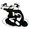 PEPE LE PEW PIN WITH PENELOPE PIN