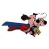 UNDERDOG PIN WITH SWEET POLLY PUREBRED CARTOON PIN