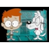 MR PEABODY AND SHERMAN WAY BACK MACHINE CARTOON PIN