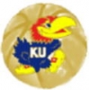 U KANSAS JAYHAWKS BASKETBALL LOGO PIN