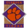 U CLEMSON TIGERS PIN DIAMOND SQUARE CLEMSON UNIVERSITY PIN