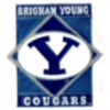 U BYU COUGARS DIAMOND PIN BRIGHAM YOUNG UNIVERSITY PINS