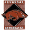 U ARKANSAS RAZORBACKS DIAMOND PIN UNIVERSITY OF ARKANSAS PINS