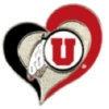 U UTAH UTES SWIRL HEART PIN