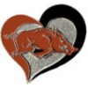 U ARKANSAS RAZORBACKS PIN SWIRL HEART OF UNIVERSITY OF ARKANSAS PIN