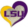 U LOUISIANA STATE LSU TIGERS PIN SWIRL HEART LOUISIANA STATE UNIVERSITY PIN