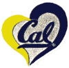 U CALIFORNIA BERKELEY GOLDEN BEARS PIN SWIRL HEART CAL, BERKELEY PIN