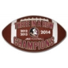 U FLORIDA STATE SEMINOLES 2014 PIN 3 TIME ACC FOOTBALL CHAMPIONS FLORIDA STATE UNIVERSITY PIN