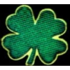 IRISH SHORT STEM FOUR LEAF CLOVER PIN