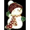 SNOWMAN BOY CHRISTMAS PIN CHRISTMAS PINS