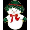 SNOWMAN GIRL CHRISTMAS PIN CHRISTMAS PINS