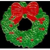 CHRISTMAS WREATH PIN CHRISTMAS HOLIDAYS PINS