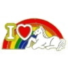 UNICORN PIN RAINBOW HEART PIN