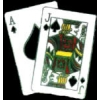 BLACKJACK 21 HAND OF CARDS PIN
