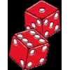 DICE PAIR RED PIN