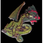 DRAGON WITH FIRE BREATH PIN