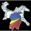 PEGASUS HORSE WITH RAINBOW WINGS PIN