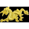 DRAGON ASIAN STYLE GOLD CAST PIN