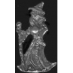 WIZARD WALKING WITH STICK AND GLOBE PIN