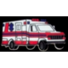 AMBULANCE PIN EMT PARAMEDIC RED WHITE STYLE PIN