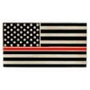 FIRE DEPARTMENT THIN RED LINE US FLAG PIN
