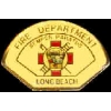LONG BEACH, CA FIRE DEPARTMENT PIN MINI PATCH PIN