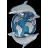 DOLPHIN PIN CAST EARTH WITH DOLPHINS PIN DX