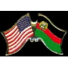 AFGHANISTAN-OLD FLAG AND USA CROSSED FLAG PIN FRIENDSHIP FLAG PINS
