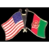 AFGHANISTAN FLAG AND USA CROSSED FLAG PIN FRIENDSHIP FLAG PINS