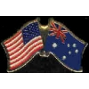 AUSTRALIA FLAG AND USA CROSSED FLAG PIN FRIENDSHIP FLAG PINS