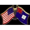 ANGUILLA FLAG AND USA CROSSED FLAG PIN FRIENDSHIP FLAG PINS
