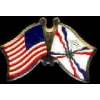 ASSYRIA USA CROSSED FLAG PIN