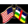 CENTRAL AFRICAN REPUBLIC FLAG USA CROSSED FLAG PIN FRIENDSHIP FLAG PINS
