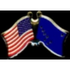 ALASKA PIN STATE FLAG USA FRIENDSHIP FLAGS PIN DX