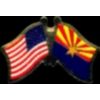 ARIZONA PIN STATE FLAG USA FRIENDSHIP FLAGS PIN DX