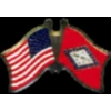 ARKANSAS PIN STATE FLAG USA FRIENDSHIP FLAGS PIN DX