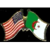 ALGERIA FLAG AND USA CROSSED FLAG PIN FRIENDSHIP FLAG PINS