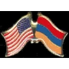 ARMENIA FLAG AND USA CROSSED FLAG PIN FRIENDSHIP FLAG PINS