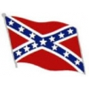 CONFEDERATE REBEL PIN CSA WAVY FLAG PIN LARGE PIN