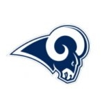 LOS ANGELES RAMS PINS BLUE AND WHITE LOGO PIN