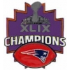 NEW ENGLAND PATRIOTS 2015 SUPER BOWL 49 CHAMPIONS FOOTBALL PIN