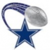 DALLAS COWBOYS PIN FOOTBALL GLITTER TRAIL PIN